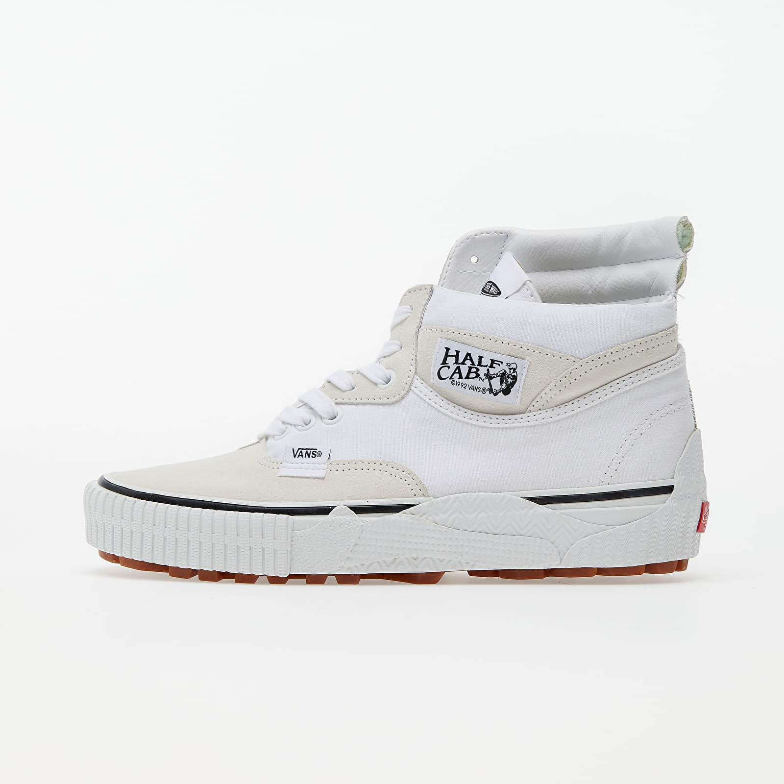 Pánské tenisky a boty Vans Cap Mash Hi LX (Suede/ Canvas) White/ Black