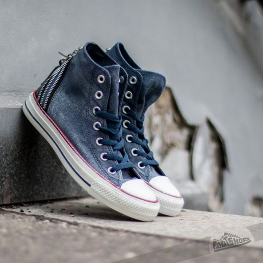 Converse CT Tri Zip Hi Navy | Footshop