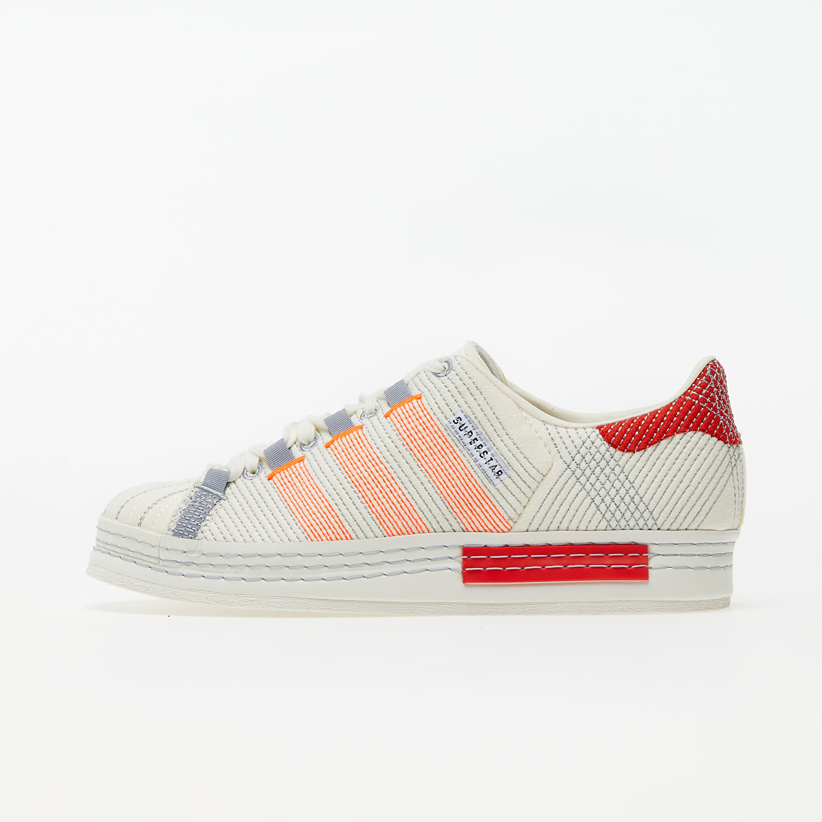 Men's shoes adidas x Craig Green Superstar Off White/ Bright Red/ Grey Three