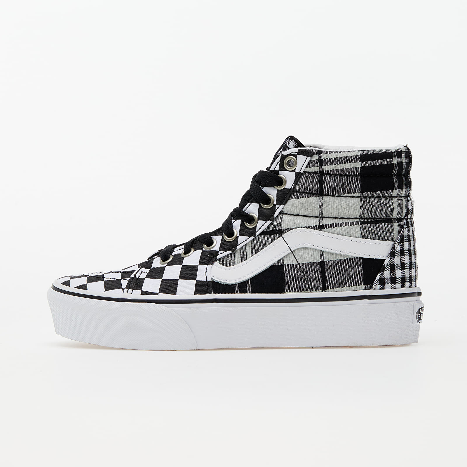 Vans SK8-Hi Platform 2 (Plaid Checkerboard) Black/ True White