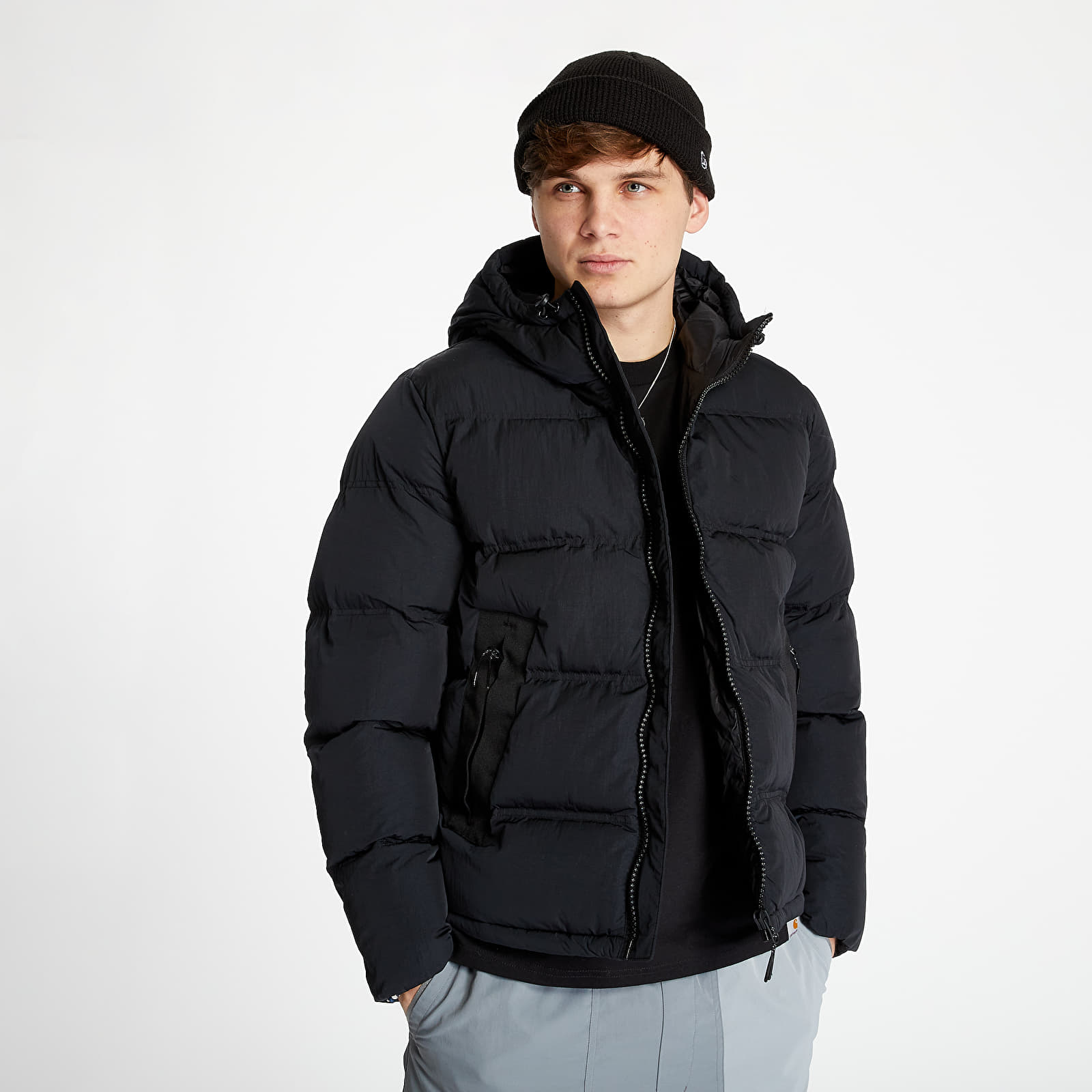 Geci Champion Hooded Puffer Jacket Black