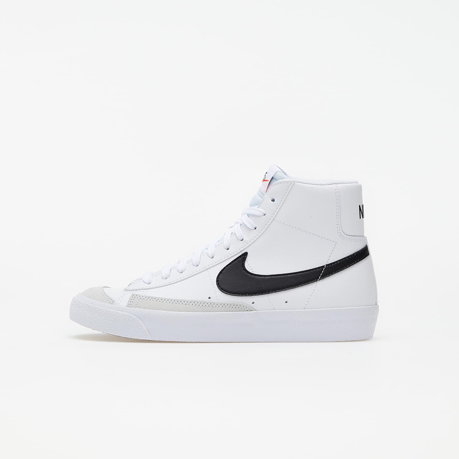 Nike Blazer Mid '77 (GS) White/ Black-Team Orange   Footshop