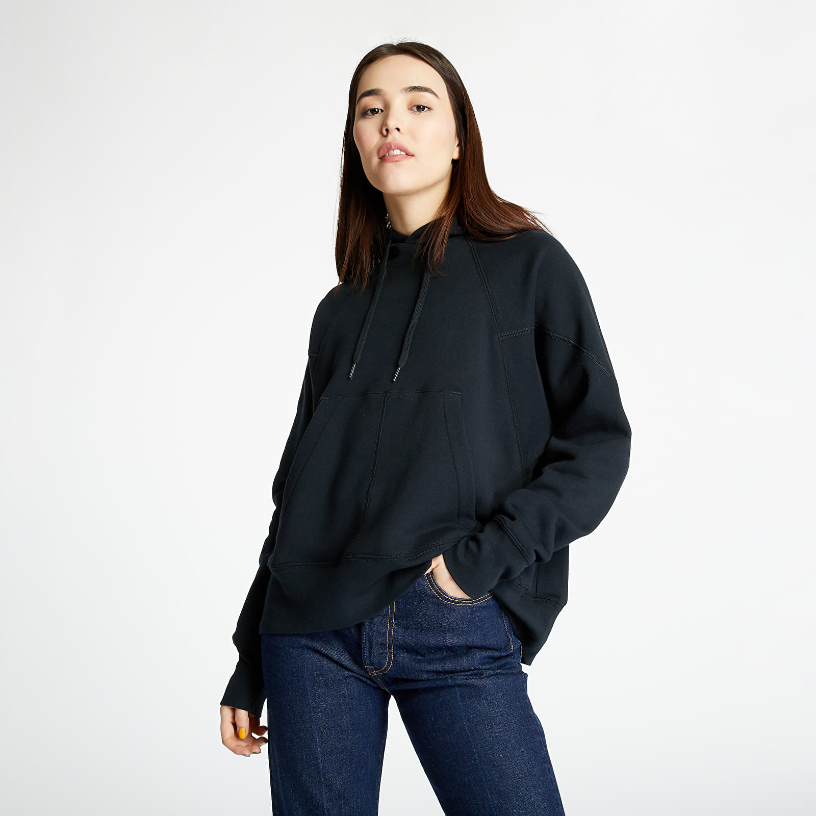 Sweatshirts Converse Shapes Triangle Pullover Hoodie Black