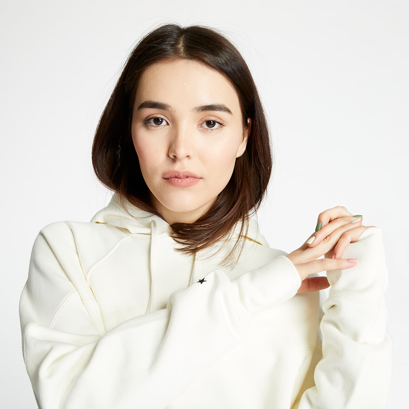 Mikiny a svetry Converse Shapes Triangle Pullover Hoodie Egret
