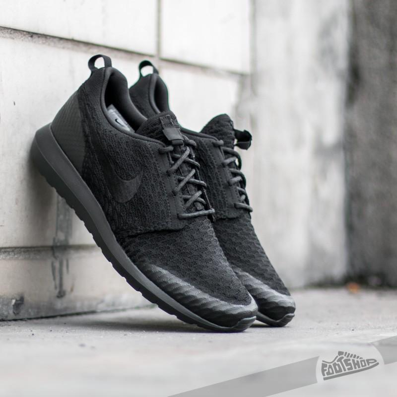 d77b7c2ea33e7 clearance glistening nike roshe run black gray knit mens shoes 74de3 6cdae   uk nike roshe nm flyknit se black black 5ca8b 633a1