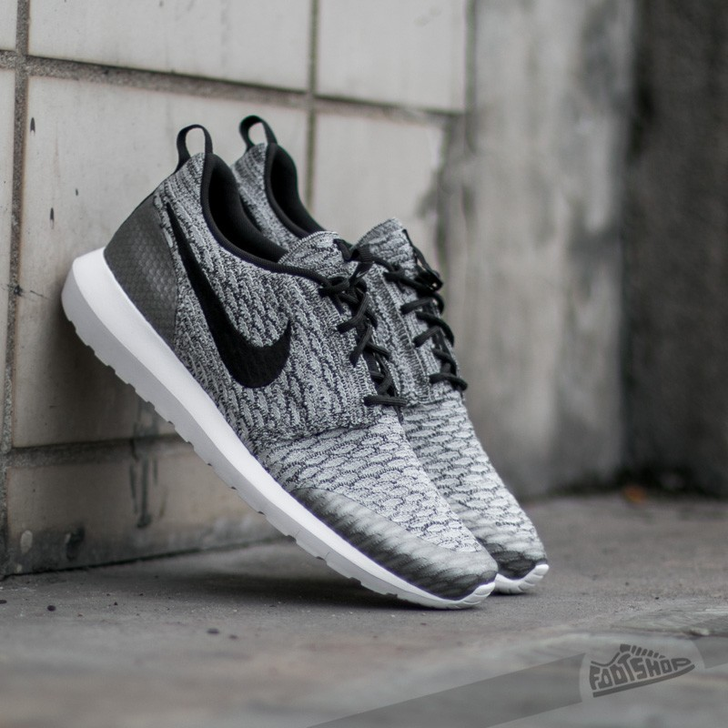 Men's shoes Nike Roshe NM Flyknit SE Wolf Grey/ Black- White