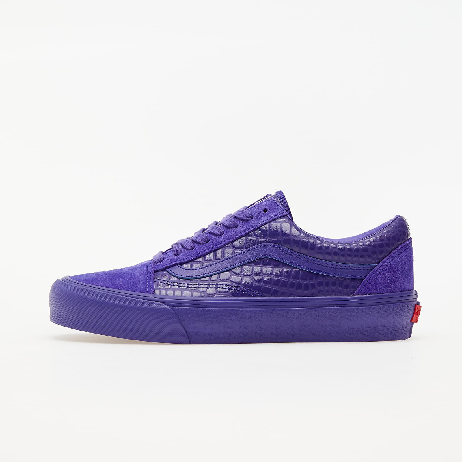 Men's shoes Vans Old Skool VLT LX (Croc Skin) Deep Blue