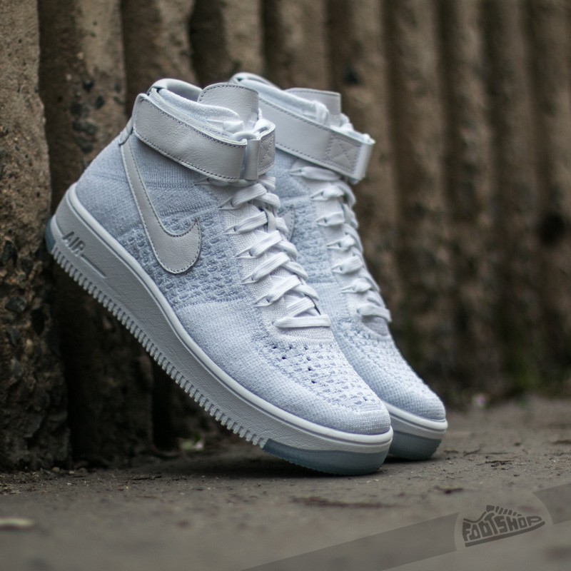 fe78bd706b36c Nike W Air Force 1 Flyknit White  White-Pure Platinum