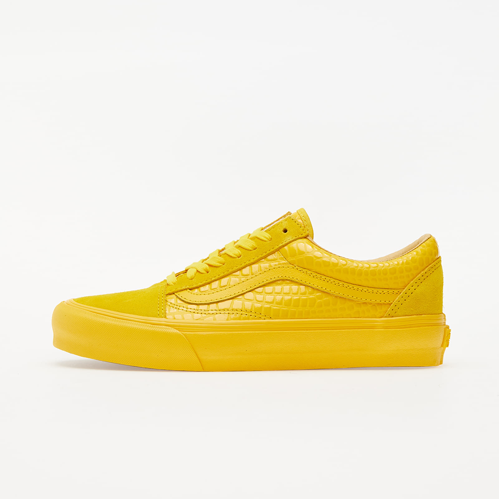 Zapatillas Hombre Vans Old Skool VLT LX (Croc Skin) Lemon Chrome