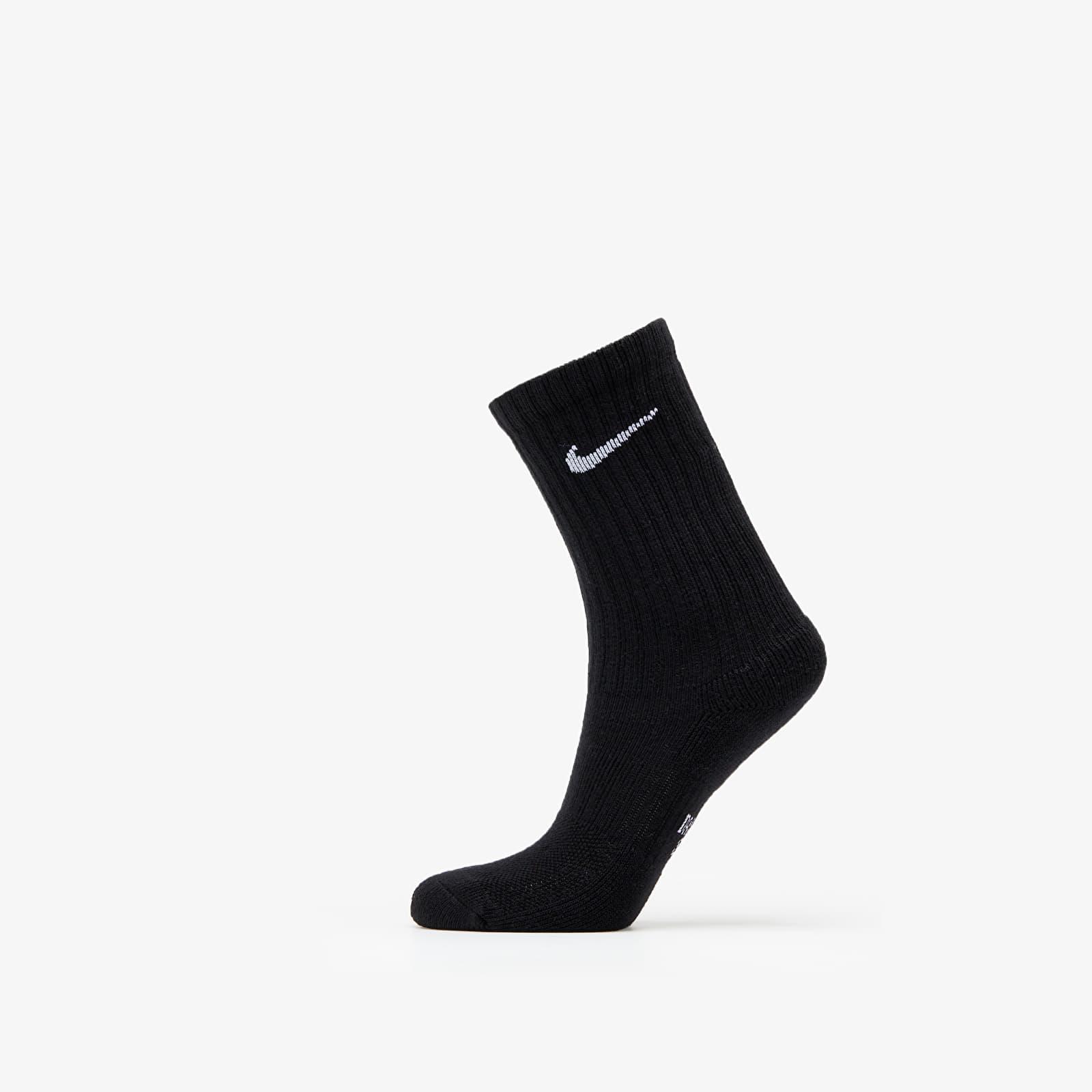 Socks Nike Y Nike Evry Cush Crew 3 Pack Socks Black/ White