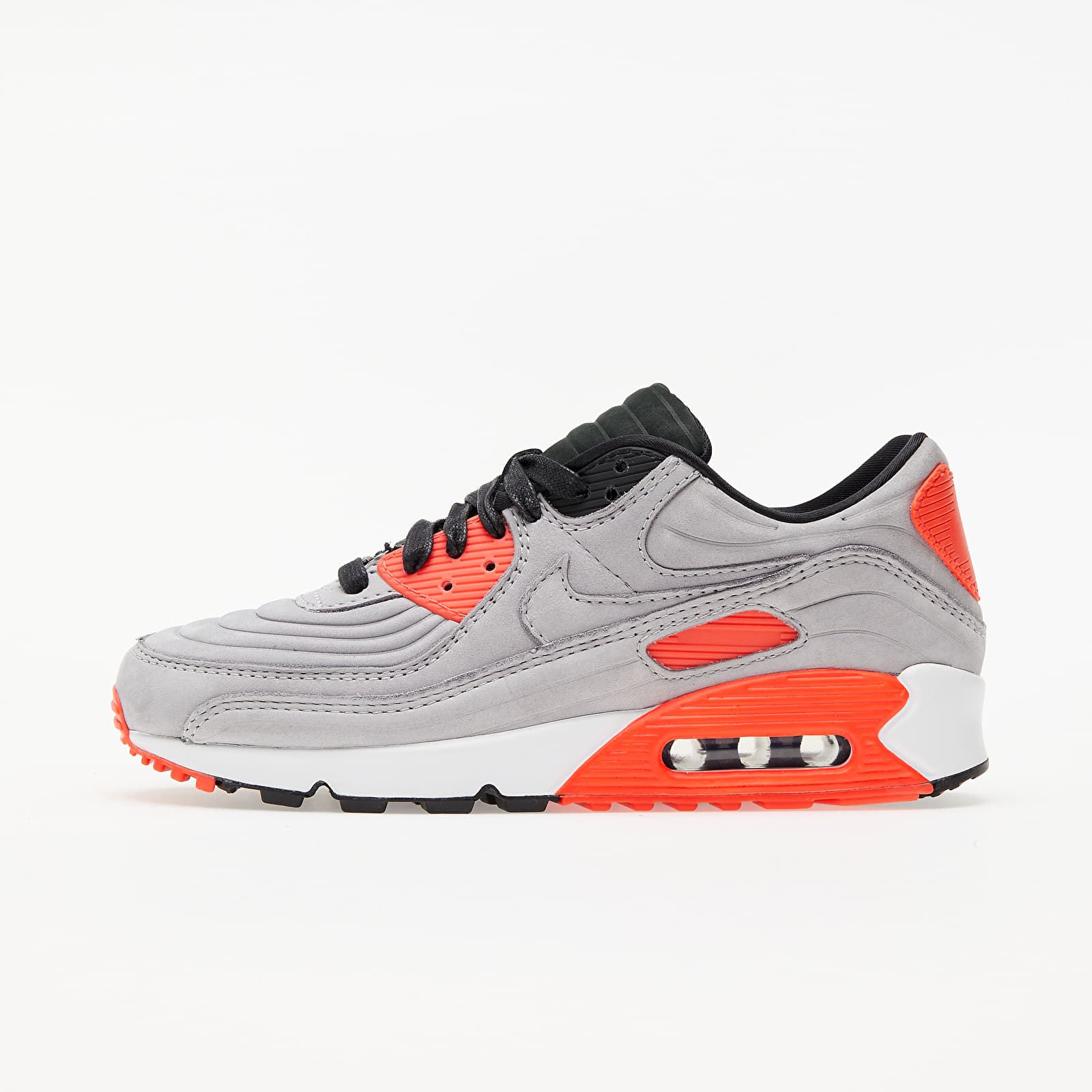 Încălțăminte și sneakerși pentru bărbați Nike Air Max 90 QS Night Silver/ Night Silver-Bright Crimson