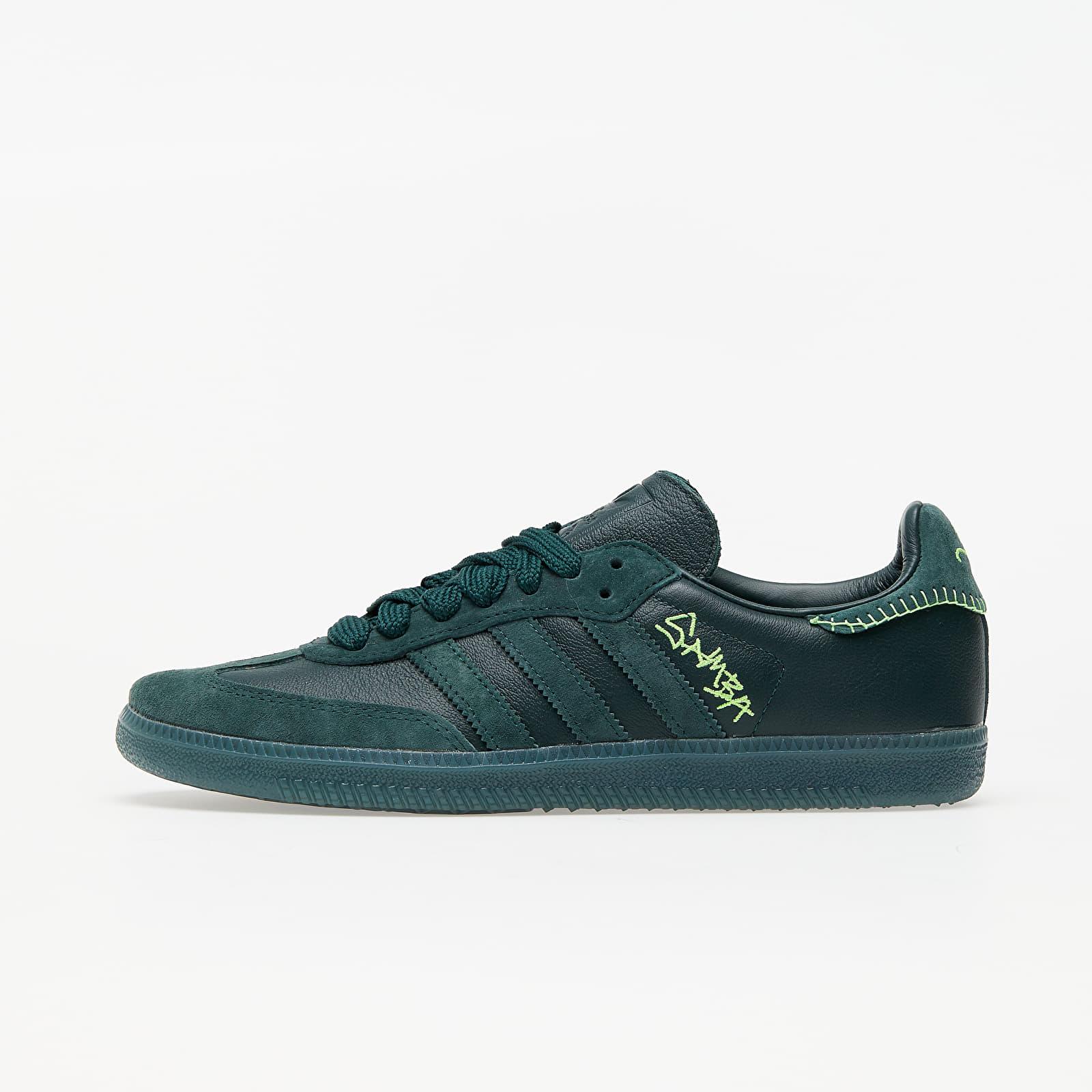 Men's shoes adidas x Jonah Hill Samba Green Night F17/ Mineral Green/ Ecru Tint