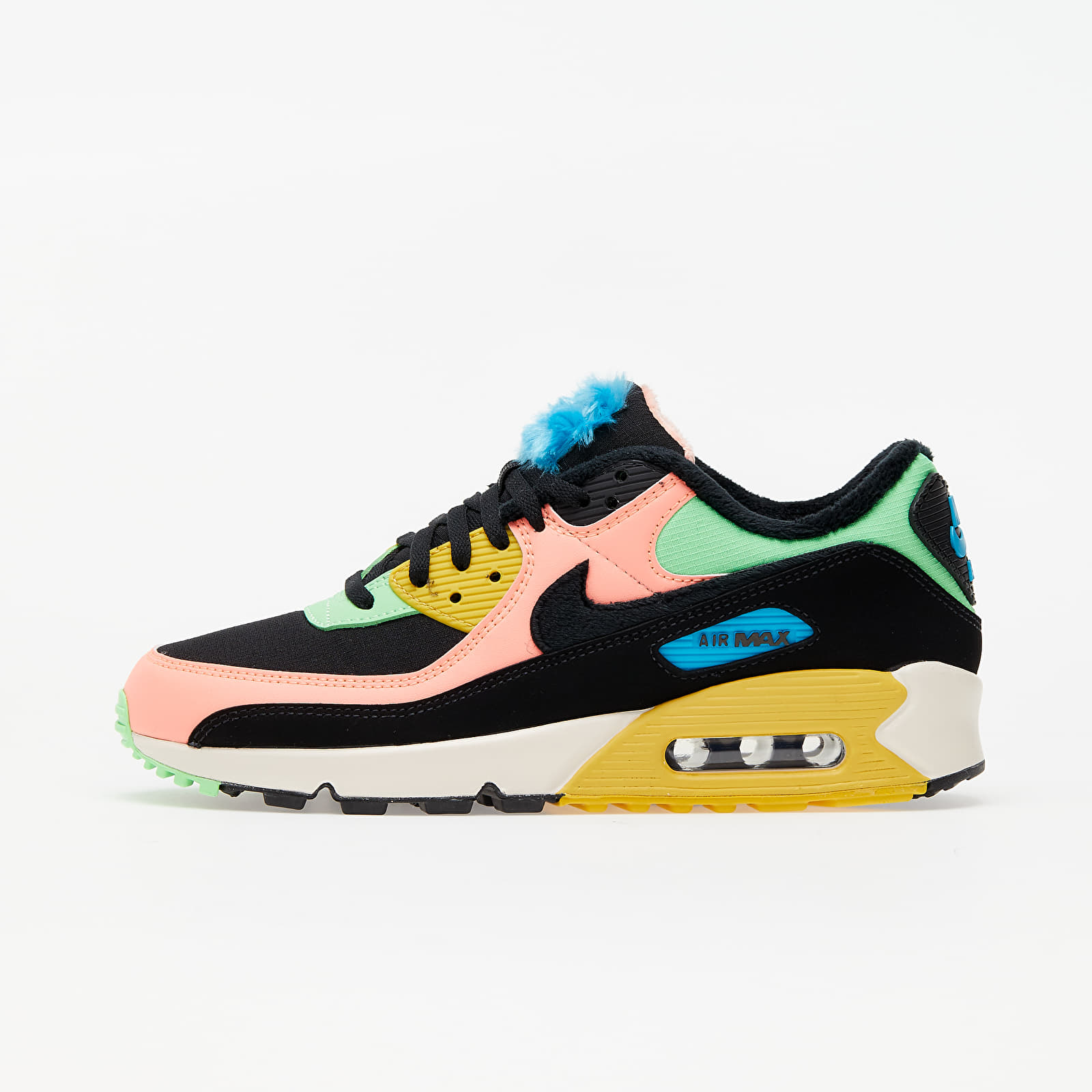 perderse novia niña  Women's shoes Nike W Air Max 90 Premium Atomic Pink/ Black-Laser Blue-Solar  Flare