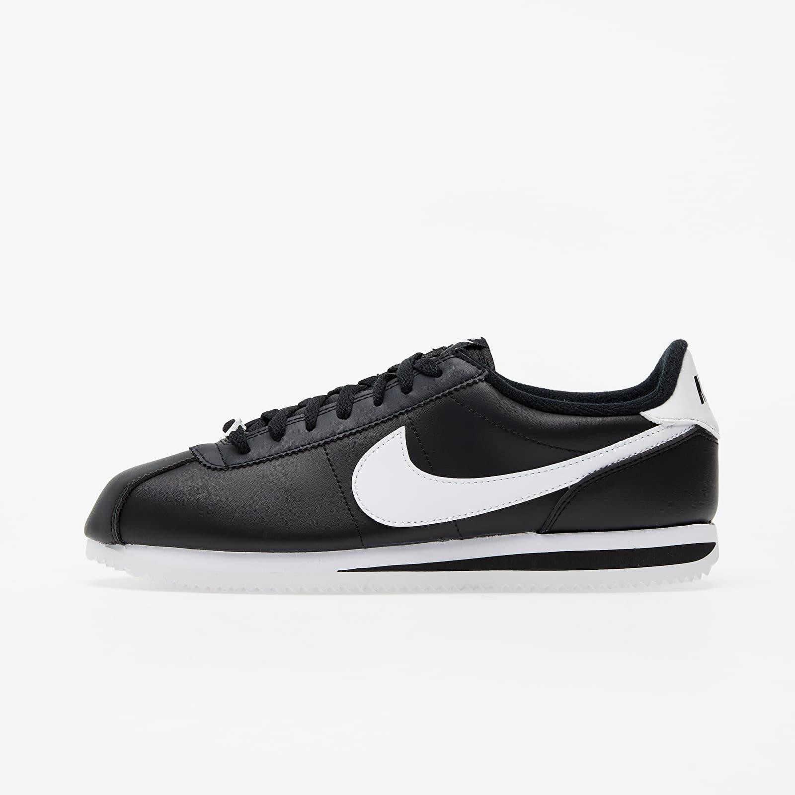 Nike Cortez Basic Leather Black/ White-Metallic Silver EUR 44