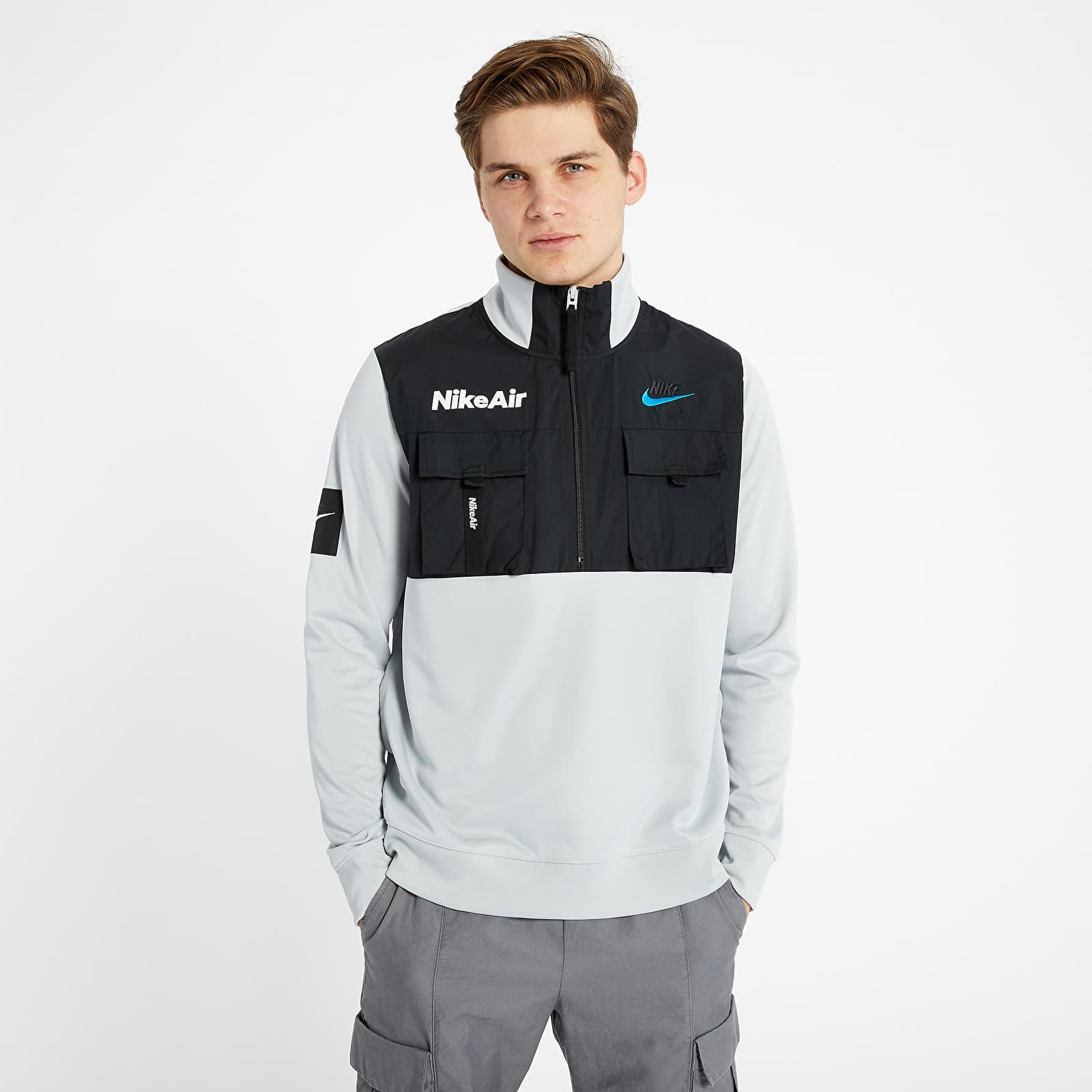 Goma de dinero temperamento Volver a disparar  Jackets Nike Air 1/2-Zip Jacket Grey Fog/ Black/ White   Footshop