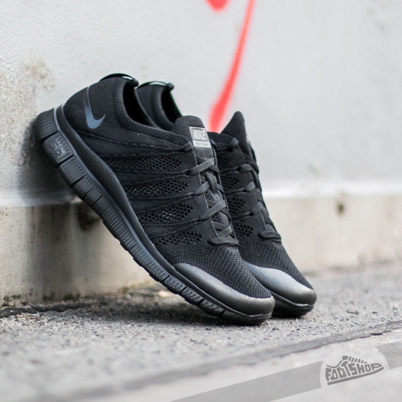 7a62703cd Nike Free Flyknit NSW Black Black