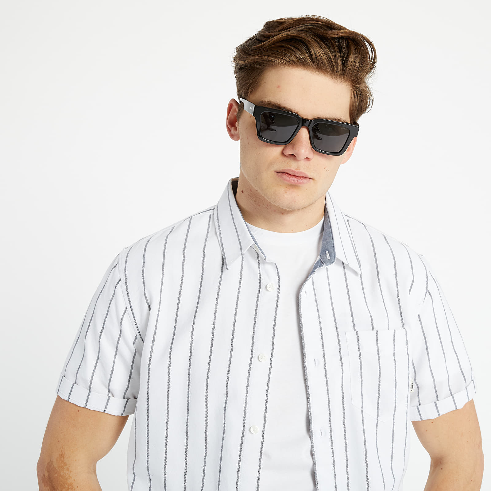 Shirts Vans CG Stripe Short Sleeve Shirt White/ Black