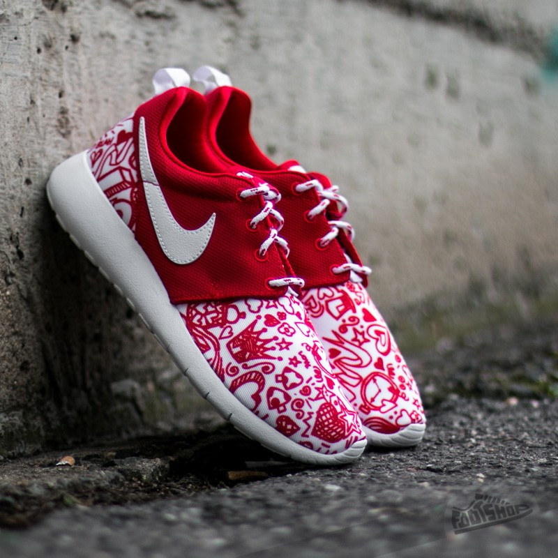 a088cd914ad10 Nike Roshe One Print (GS) University Red  White-Black