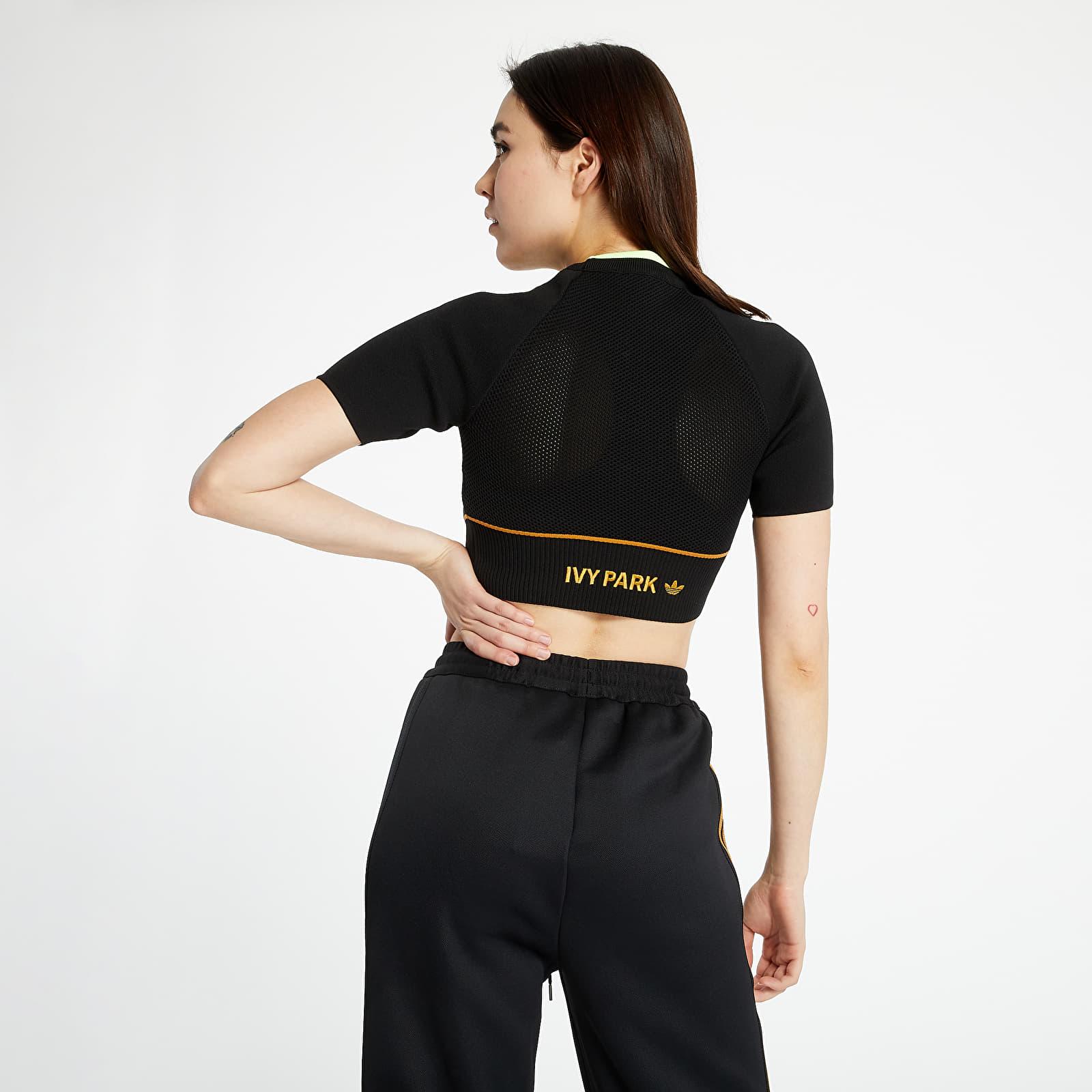T-shirts adidas x Ivy Park Knit Crop Top Black/ Mesa