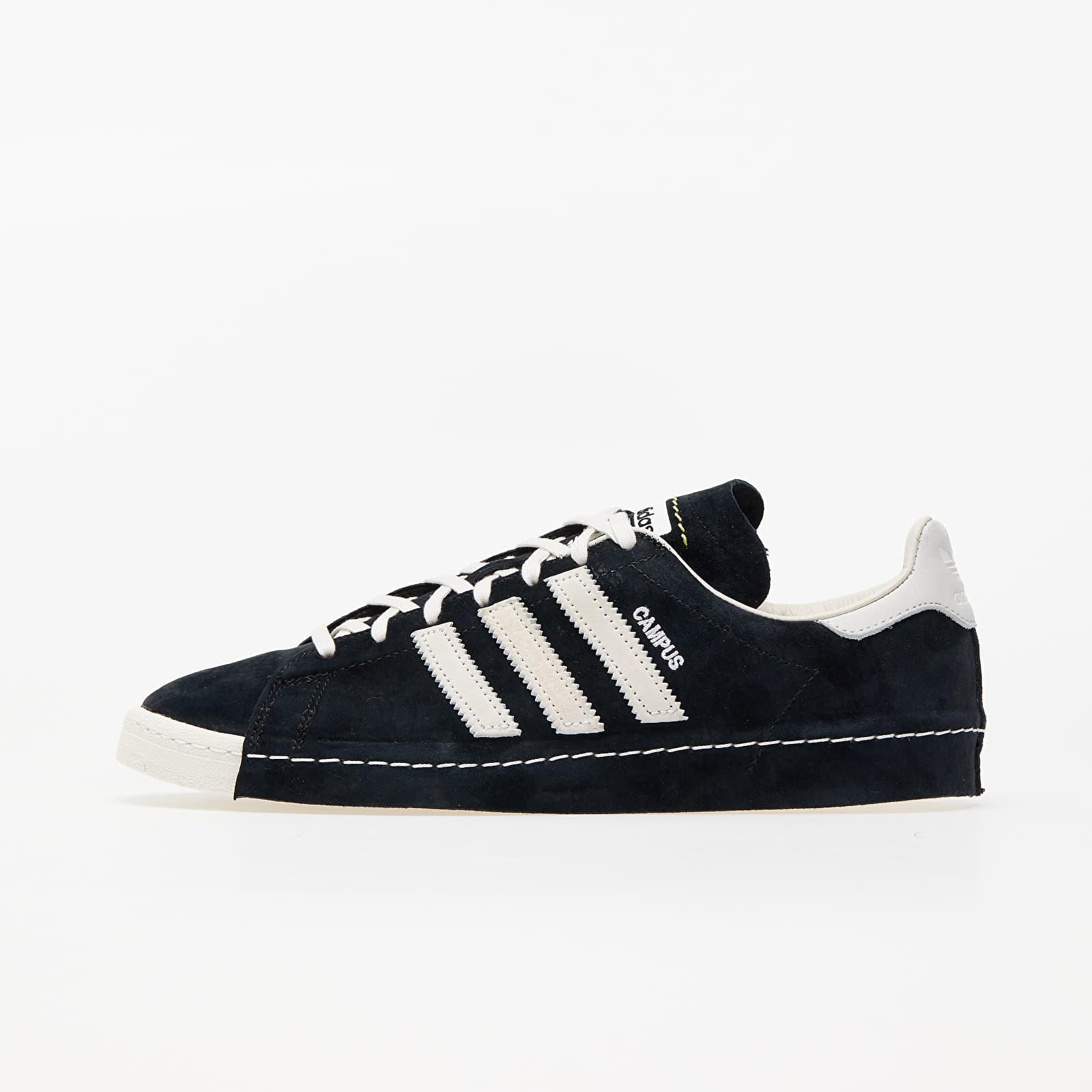 Încălțăminte și sneakerși pentru bărbați adidas Consortium x Recouture Campus 80s SH Core Black/ Chalk White/ Dark Blue
