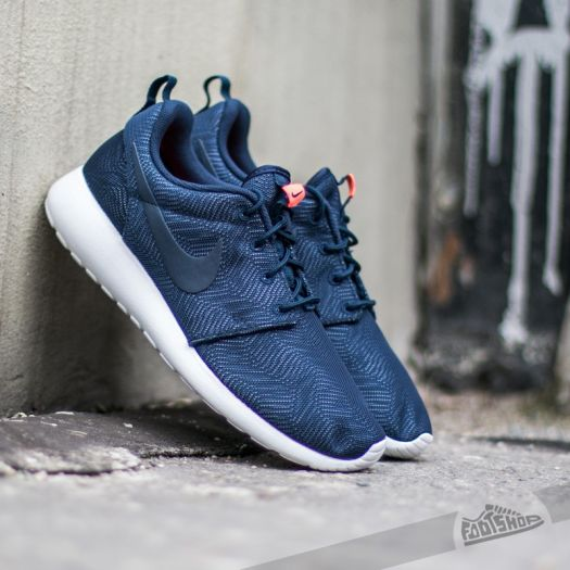 Wmns Nike Roshe One Moire Obsidian White Bright Mango | Footshop