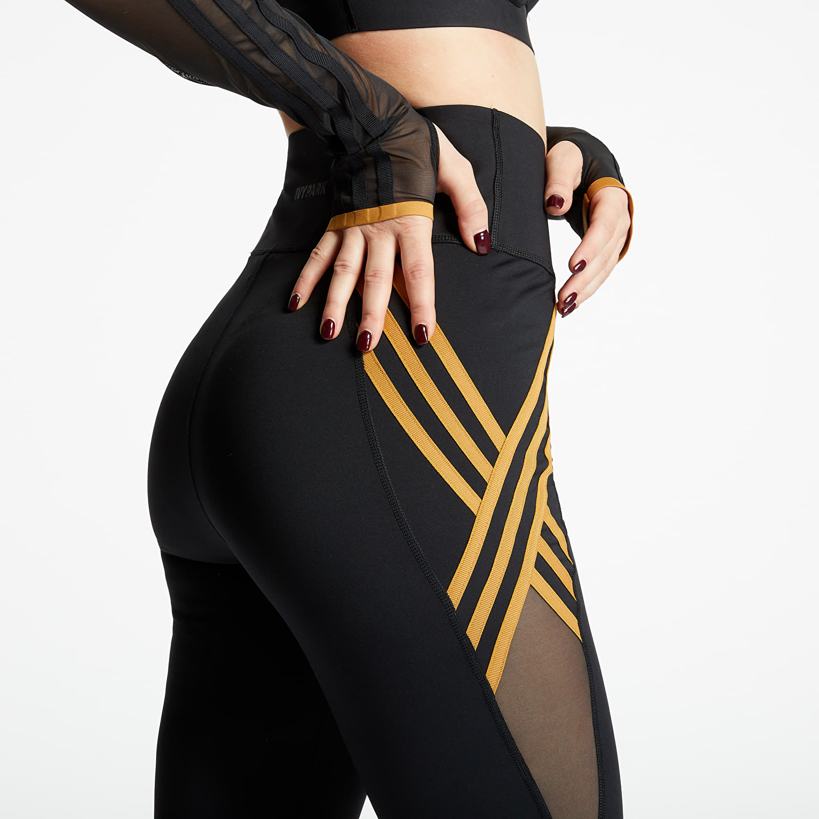 Pants and jeans adidas x Ivy Park 3 Stripe Tight Black
