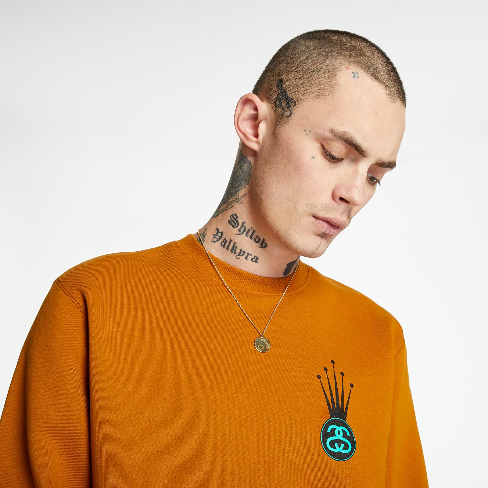 Sweatshirts Stüssy Crown Link Crew Caramel