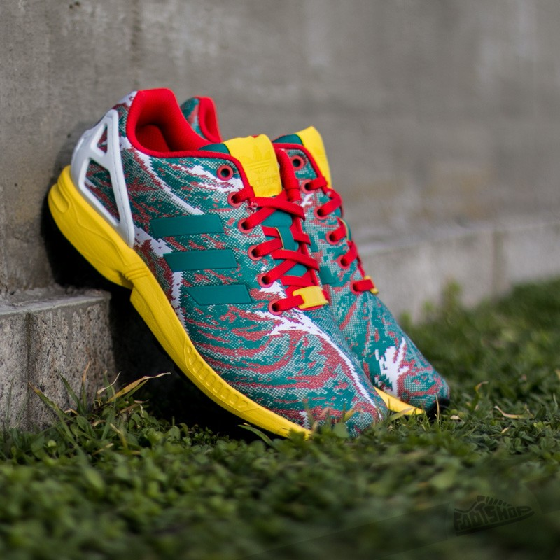 low priced bf7db 7311a adidas ZX Flux Weave Equipment Green  Yellow  Red