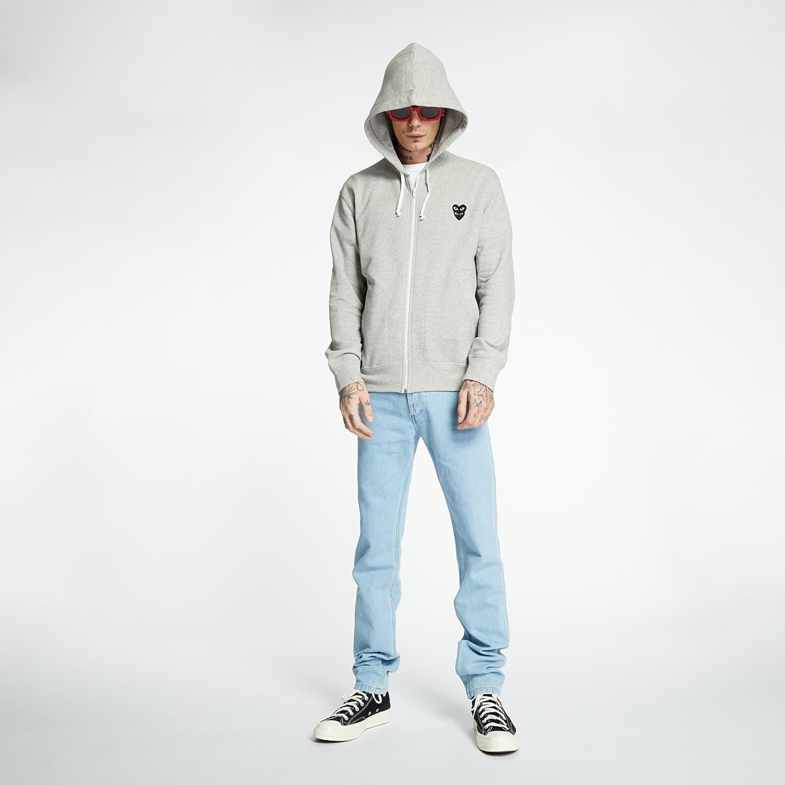 Sweatshirts Comme des Garcons PLAY Full Zip Hoodie Grey