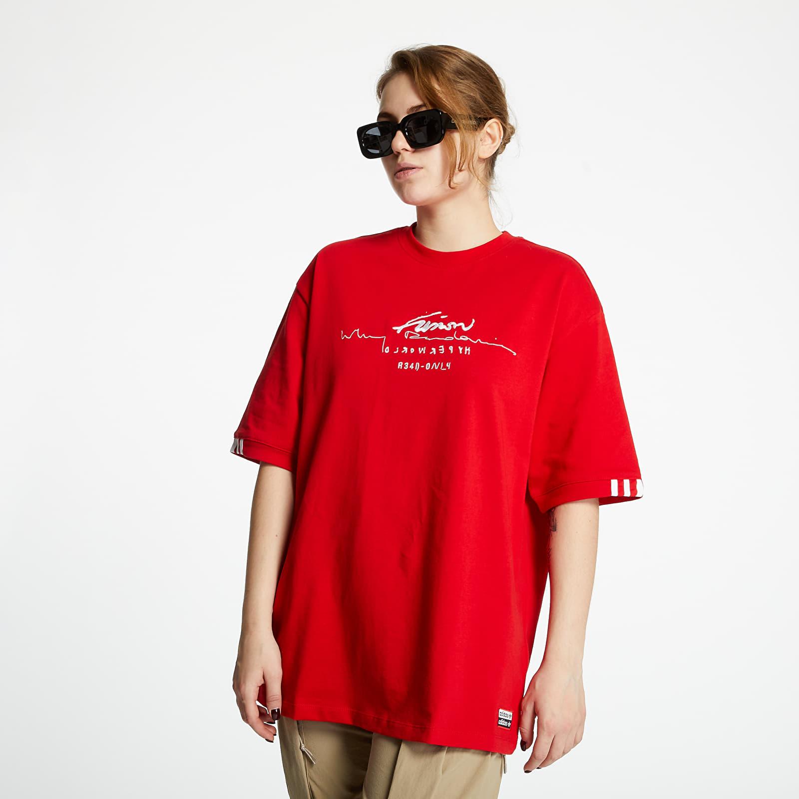 Trička adidas Oversized Tee Scarlet