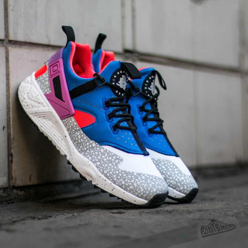 70495979690 Nike Air Huarache Utility Premium White Vl-Varsity Royal-Bright Crimson