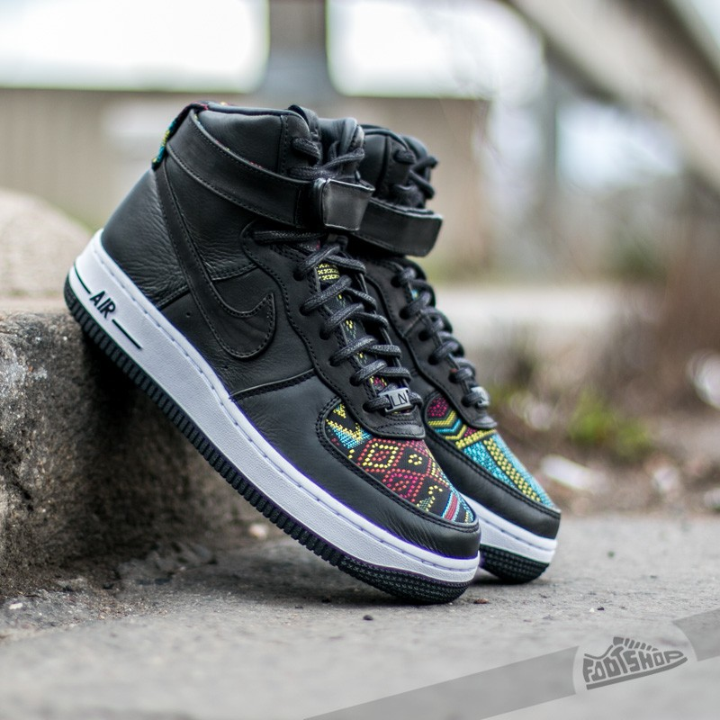 Nike Wmns Air Force 1 Hi BHM QS Black  Black-Noble Red- Summit ... 1fdae7fc48