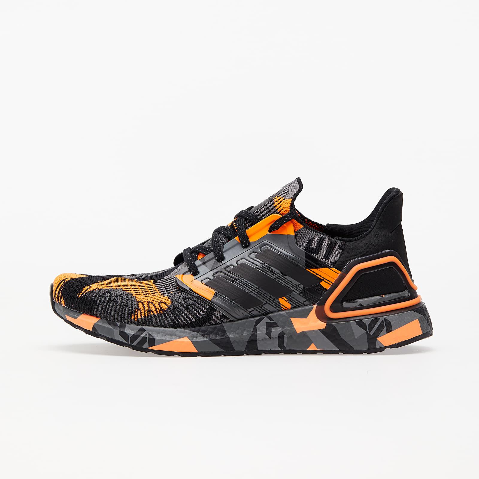 Men's shoes adidas UltraBOOST 20 Core Black/ Core Black/ Signature Orange
