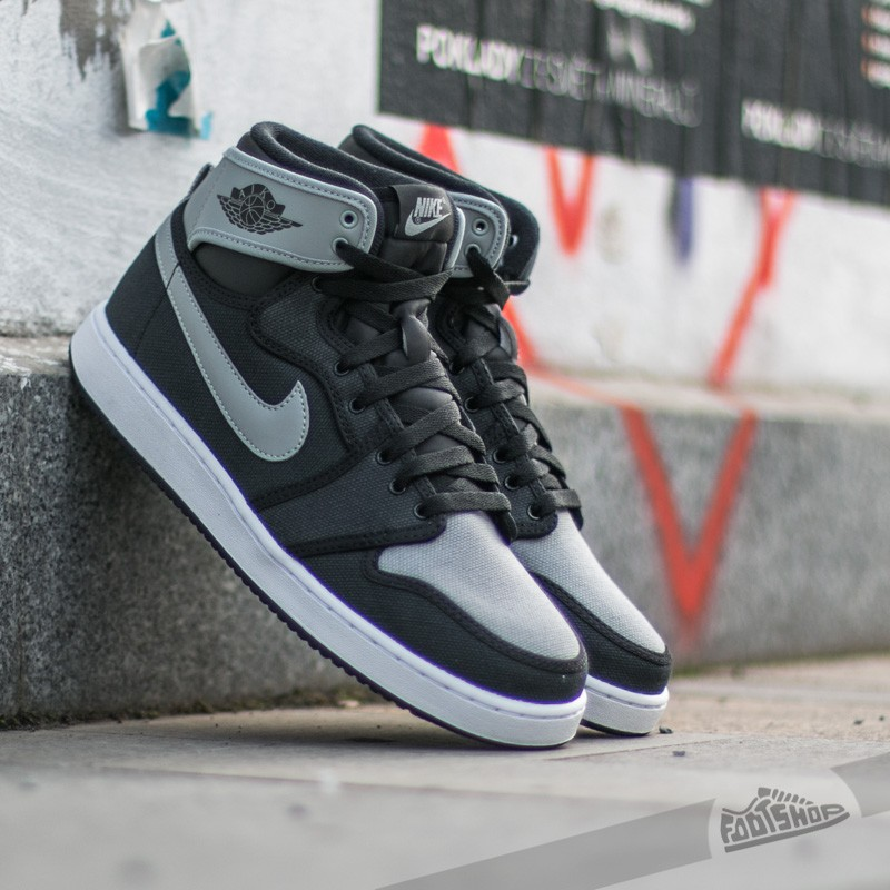 Air Jordan 1 KO High OG Black  Shadow Grey- White  ec174c478e