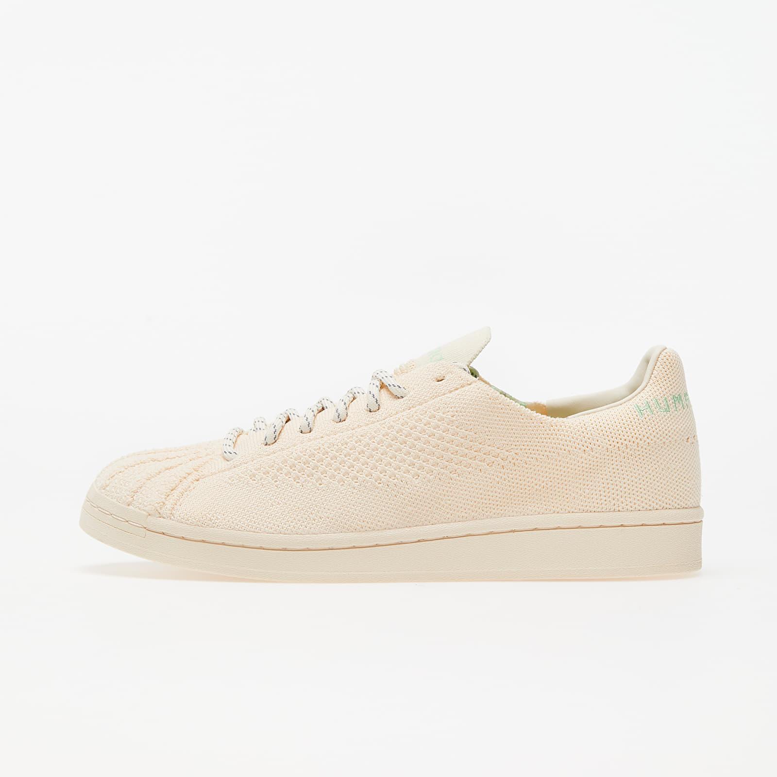 adidas x Pharrell Williams Superstar Pk Ecru Tint/ Core White/ Glow Mint EUR 44