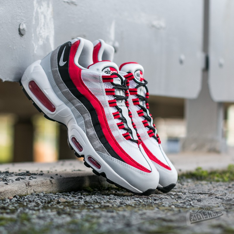 d8125c83ad1d Nike Air Max 95 Essential University Red  Wolf Grey