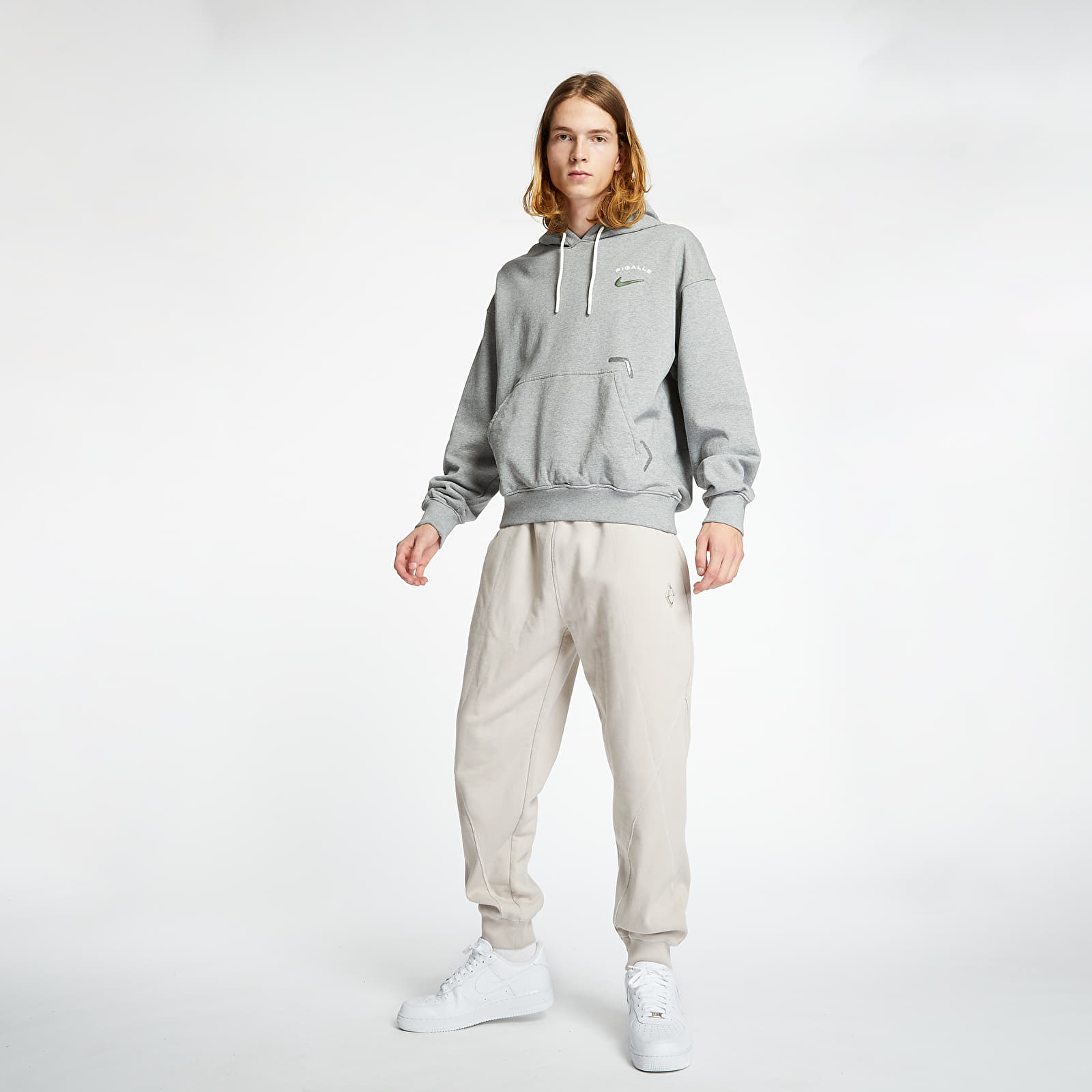Mikiny a svetre Nike x Pigalle Hoodie Grey