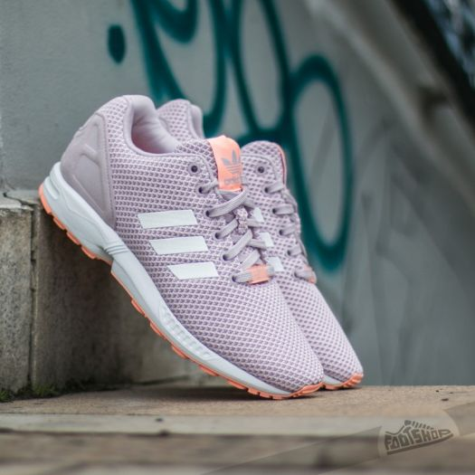 fresh styles united states shop adidas ZX Flux W Mauve/ Ftw White/ Glow Coral