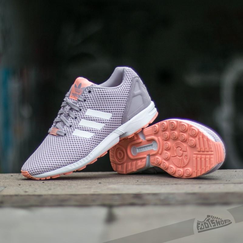 adidas ZX Flux W Mauve Ftw White Glow Coral   Footshop