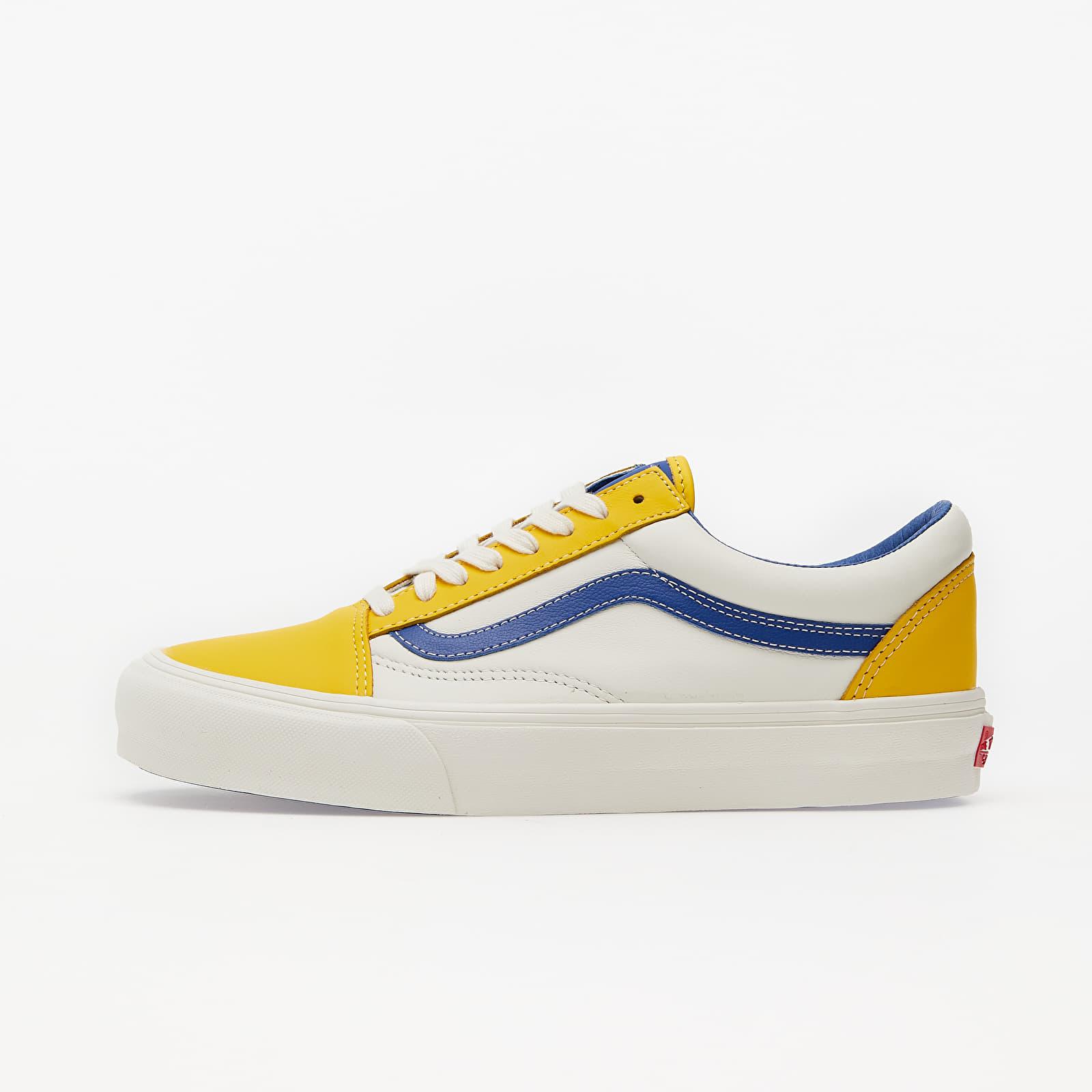 Herren Sneaker und Schuhe Vans Old Skool Vlt LX (Leather) Lemon/ Blue/ True White