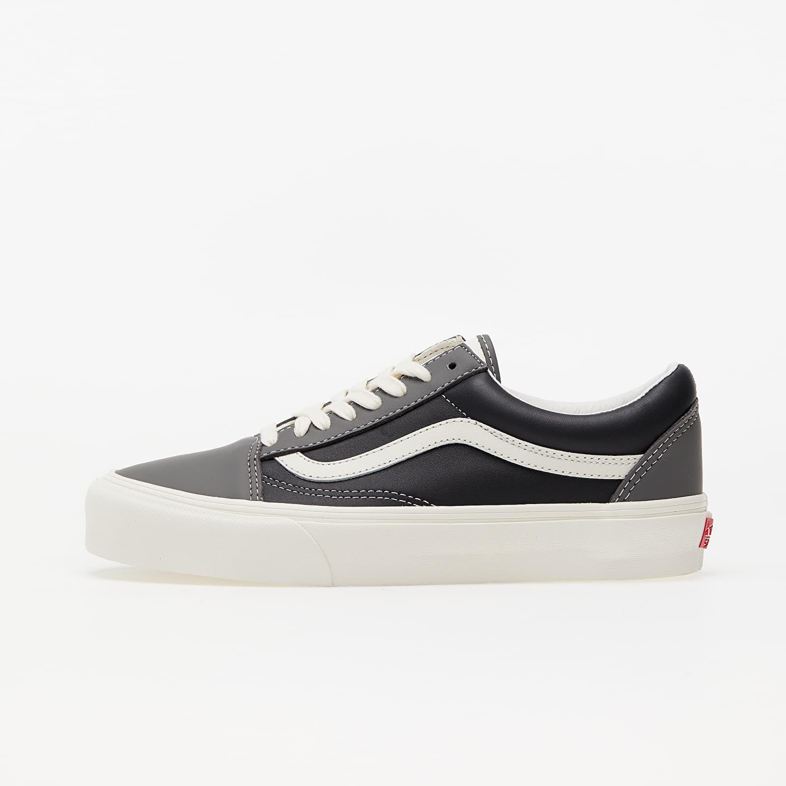 Încălțăminte și sneakerși pentru bărbați Vans Old Skool Vlt LX (Leather) Charcoal/ Black