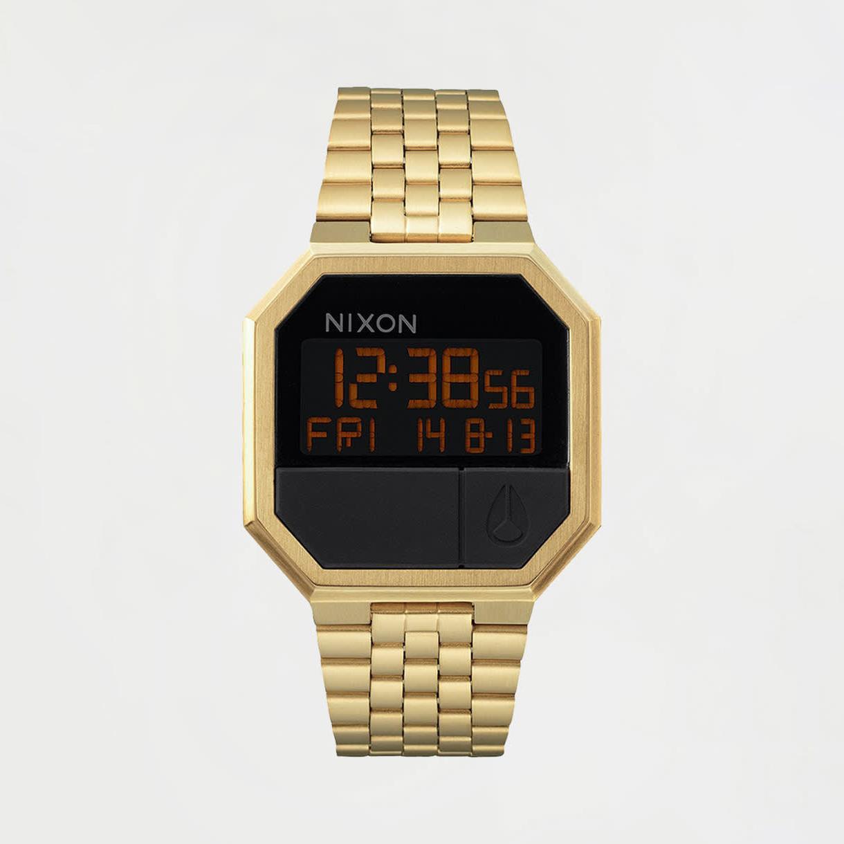 Montres numériques Nixon Re-Run All Gold