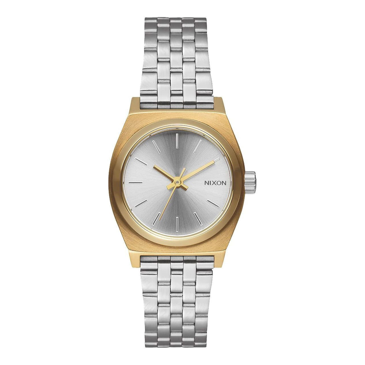 Montres Nixon Small Time Teller Watch Gold/ Silver/ Silver