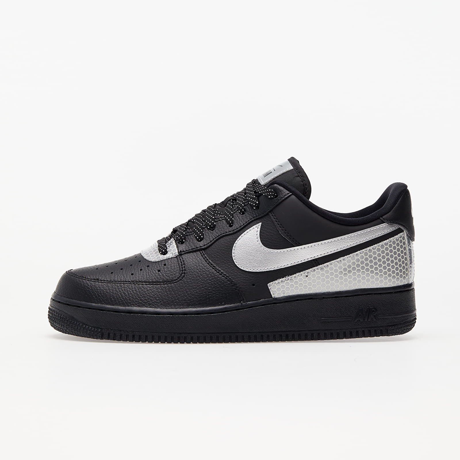 Nike Air Force 1 '07 LV8 3M Black/ Metallic Silver-Black EUR 46