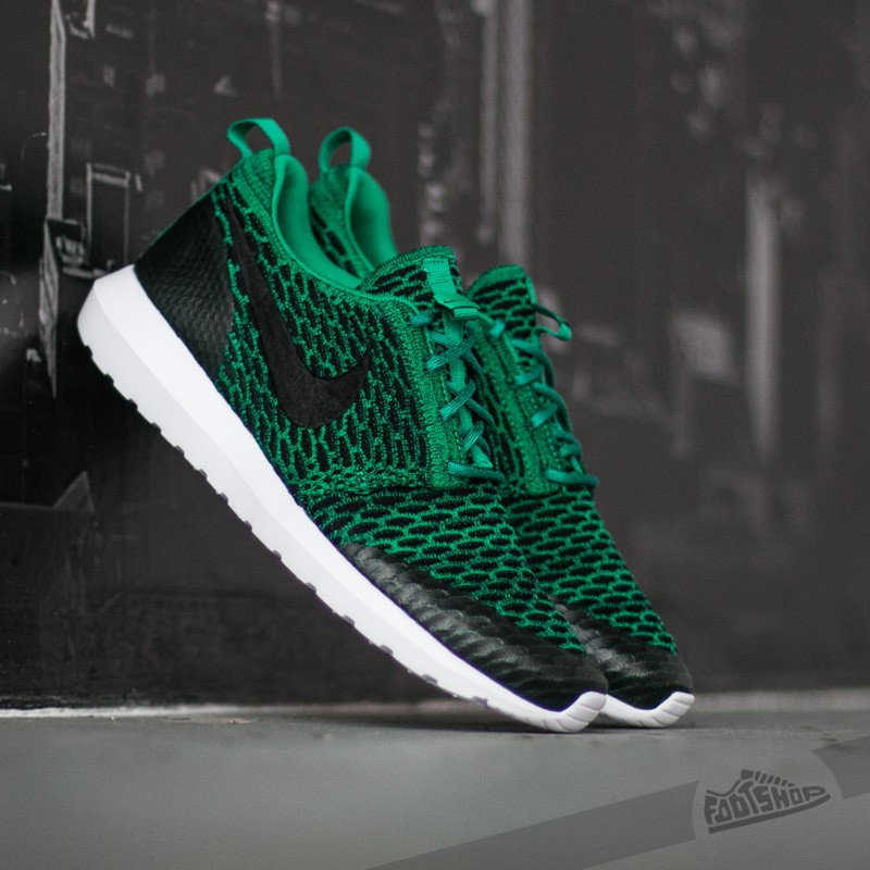 best cheap 670eb 1f283 Nike Roshe NM Flyknit SE Lucid Green Black White