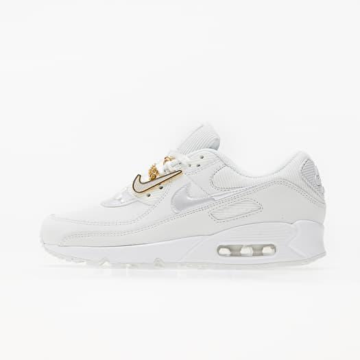 Nike Wmns Air Max 90 Summit White/ Summit White-Dark Beetroot | Footshop