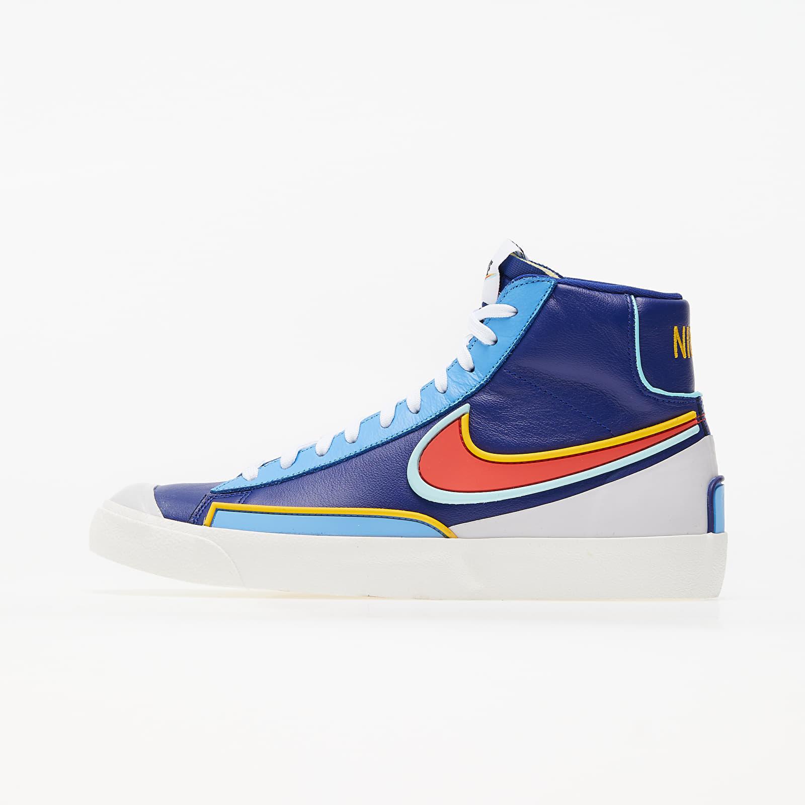 Încălțăminte și sneakerși pentru bărbați Nike Blazer Mid '77 Infinite Deep Royal Blue/ Chile Red-Copa