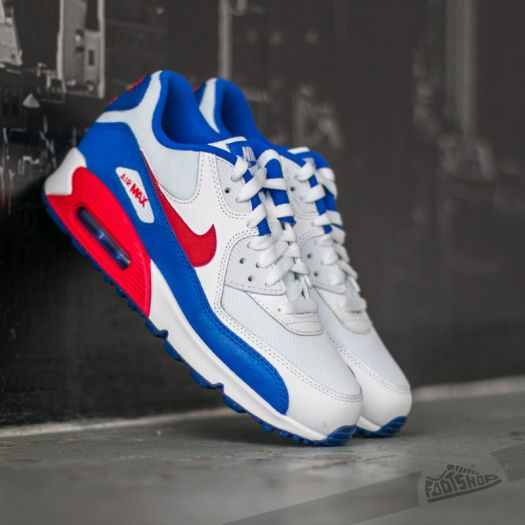 online store 7df3b d7219 Nike Air Max 90 Mesh (GS) White/ University Red-Racer Blue ...