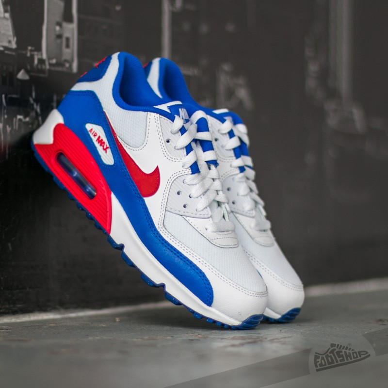 Nike Air Max 90 Mesh (GS) White  University Red-Racer Blue  e8d093ab8