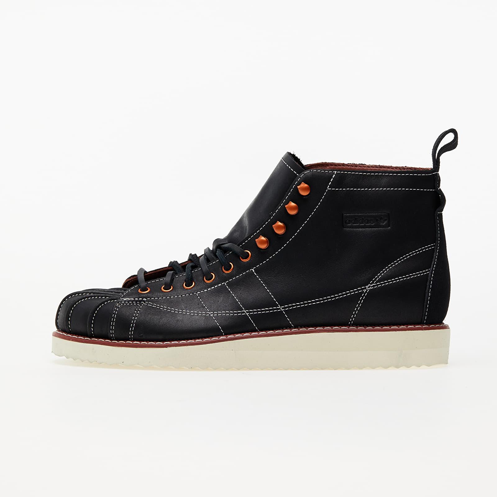 adidas Superstar Boot Core Black/ Off White/ Wild Sepia EUR 44